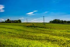 Terreno coltivabile arato Fotografia Stock Libera da Diritti
