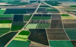 Terreno coltivabile in California del Nord fotografia stock