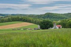 Terreno coltivabile che circonda William Kain Park nella contea di York, Pennsylva Fotografie Stock