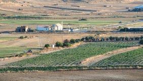 Terreno coltivabile Cipro di agricoltura Immagine Stock