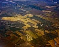 Terreno coltivabile da sopra Fotografie Stock Libere da Diritti