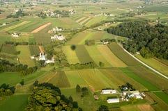 Terreno coltivabile da sopra Immagine Stock Libera da Diritti