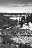 Terreno coltivabile di Snowy Immagini Stock Libere da Diritti