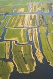 Terreno coltivabile di vista aerea fotografie stock libere da diritti