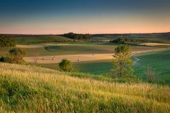 Terreno coltivabile in paese Immagine Stock Libera da Diritti