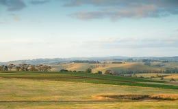Terreno coltivabile rurale dell'Australia immagini stock libere da diritti