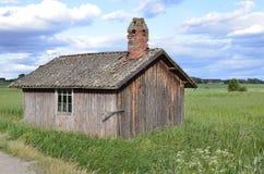 Terreno coltivabile rurale svedese Fotografie Stock Libere da Diritti