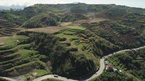 Terreno coltivabile in una provincia Filippine, Luzon della montagna stock footage