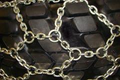 Terreno, com os grampos poderosos com corrente do metal Imagem de Stock Royalty Free
