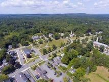 Terreno comunale del centro di Framingham, Massachusetts, U.S.A. Fotografia Stock
