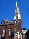 Terreno comunale di Boston della chiesa Fotografie Stock