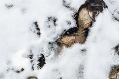Terreno coperto di neve fotografia stock libera da diritti
