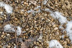 Terreno coperto di neve immagini stock libere da diritti
