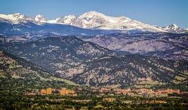 Terreno da faculdade de Universidade do Colorado Imagens de Stock