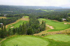 Terreno da golf Fotografia Stock Libera da Diritti