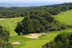 Terreno da golf. fotografie stock