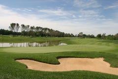 Terreno da golf Immagini Stock