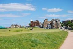 Terreno da golf alla st Andrews Fotografia Stock Libera da Diritti