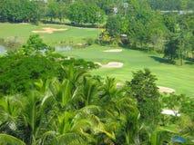 Terreno da golf bello Fotografia Stock Libera da Diritti