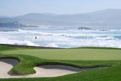 Terreno da golf del Pebble Beach Immagini Stock