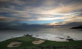 Terreno da golf del Pebble Beach, Ca Fotografia Stock