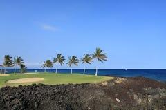 Terreno da golf dell'Hawai Immagini Stock