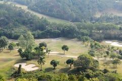 Terreno da golf della montagna Fotografia Stock