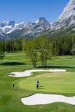 Terreno da golf della montagna Fotografie Stock Libere da Diritti
