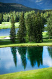 Terreno da golf di Kananaskis Fotografia Stock Libera da Diritti