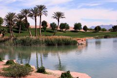 Terreno da golf di Las Vegas del lago immagine stock libera da diritti