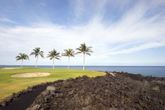 Terreno da golf, Hawai Fotografia Stock
