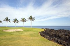 Terreno da golf in Hawai Immagine Stock Libera da Diritti
