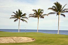 Terreno da golf in Hawai Fotografia Stock