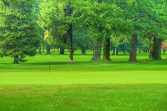 Terreno da golf HDR Fotografie Stock