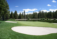 Terreno da golf in laghi giganteschi, CA Fotografie Stock Libere da Diritti