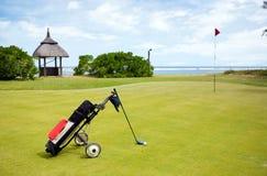Terreno da golf litoraneo Fotografia Stock