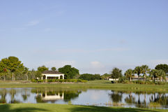 Terreno da golf a Napoli, Florida Fotografie Stock