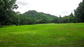 Terreno da golf verde Immagine Stock
