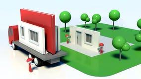 terreno de construção 3D residencial Foto de Stock