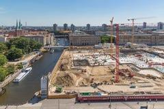 Terreno de construção da vista aérea do Stadtsch berlinês Imagens de Stock