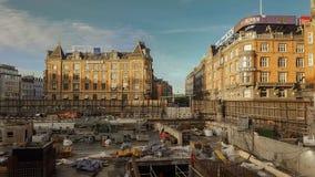 Terreno de construção de Copenhaga Fotografia de Stock