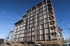 Terreno de construção em Aarhus Fotos de Stock Royalty Free