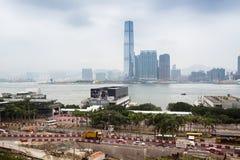 Terreno de construção em Hong Kong Imagem de Stock