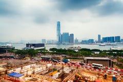 Terreno de construção em Hong Kong Fotografia de Stock Royalty Free