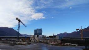Terreno de construção com céu azul Foto de Stock