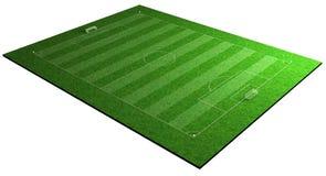 Terreno de juego del deporte del fútbol del balompié Foto de archivo