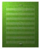 Terreno de juego del deporte del fútbol del balompié stock de ilustración