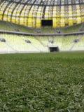 Terreno de juego del estadio de Gdansk de la arena de PGE Imagen de archivo libre de regalías
