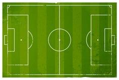 Terreno de juego del fútbol del Grunge libre illustration
