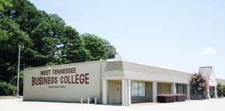 Terreno de Tennessee Business College ocidental, Jackson TN Imagem de Stock